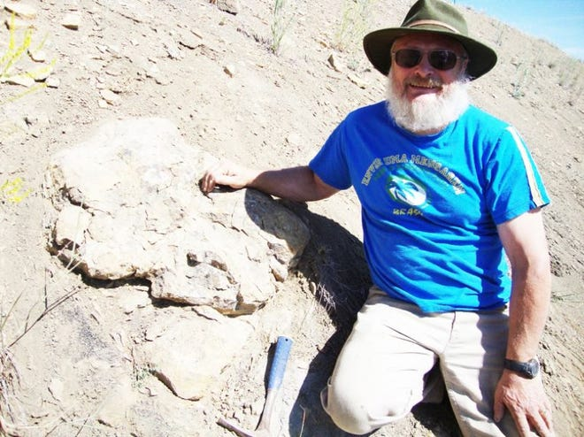 Greg Carr, fossil dig foreman at the University of Oregon-sponsored dig near Mitchell, is seen in this file photo.