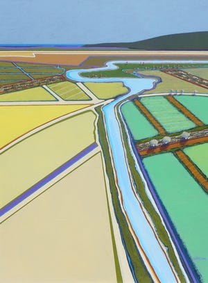 """Overview #3,"" Jon Jay Cruson. Acrylic on canvas. 48"" x 36"""