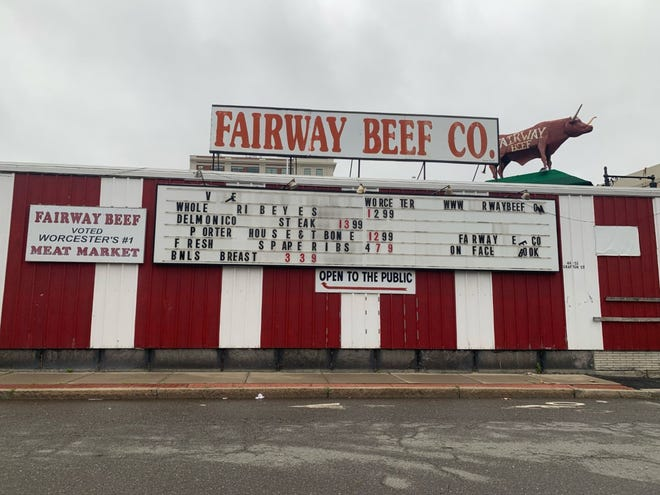 Fairway Beef on Franklin and Temple streets, one of Worcester oldest meat markets, closed for good on Saturday