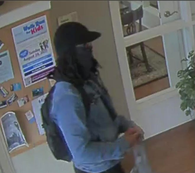An NBT Bank image of the male suspect in an armed robbery at the bank Friday afternoon.