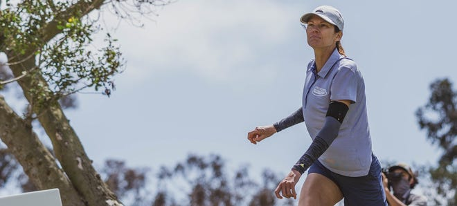 Juliana Korver is one of the elite professional disc golf athletes competing in this week's Disc Golf Pro Tour stop in Indianola, July 9-11, 2021. Korver designed the Pickard Park Disc Golf Course in Indianola that opened in 1999.