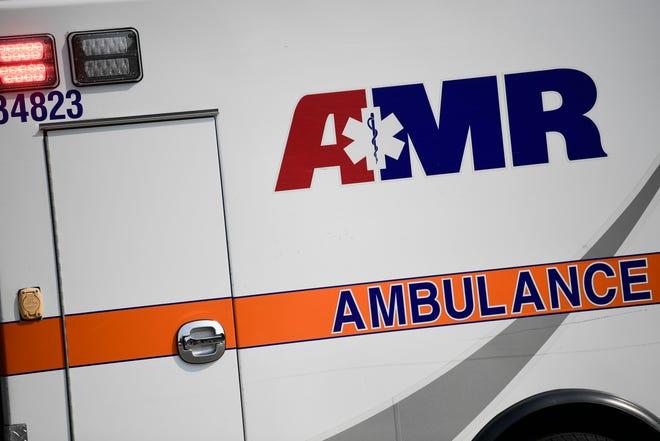 Stock image of AMR Ambulance truck vehicle car