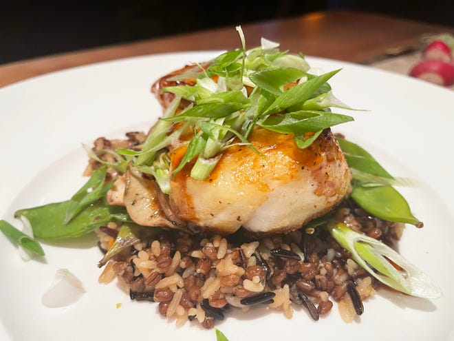 """The """"Brick-oven Roasted Chilean Sea Bass"""" from Seasons 52, Naples."""
