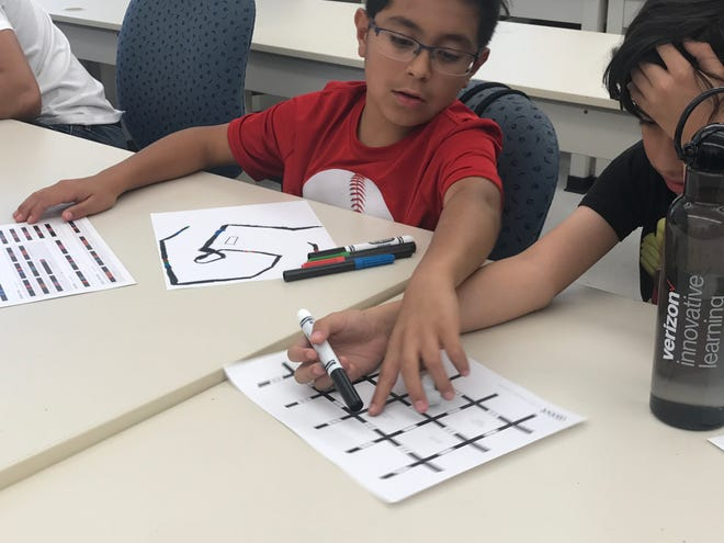 Students participating in activities during the 2018 Verizon Innovative Learning Program.