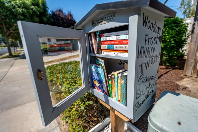 This Free Library was installed in the 1500 block of South Huntington Street on Friday, July 2, 2021.