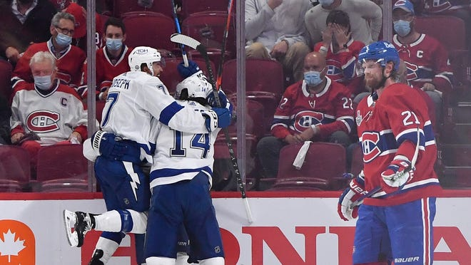 bfafd63f 39e2 4f43 aa64 d57fad0bd944 USATSI 16358584 Tampa Bay Lightning on brink of second straight Stanley Cup after Game 3 win vs. Montreal Canadiens