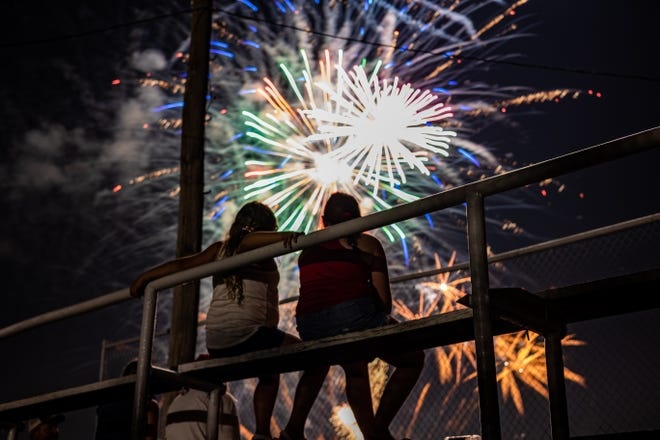 The Caney Valley Independence Day Celebration in Ochelata ended with a bang as fireworks lit up the night sky Saturday evening.