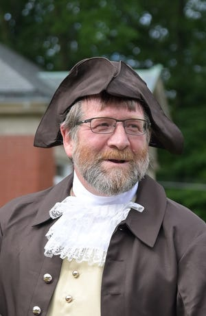 Bruce Hopper portrays Isaiah Thomas for the Declaration of Independence reading.