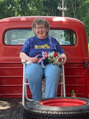 Cheryl Foote was the marshal for the grand parade at the Gnadenhutten Fireworks Festival.