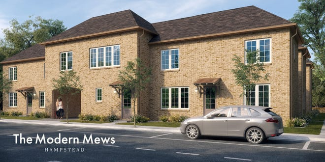 Hampstead already has leased two of seven homes now under construction which will offer a two-story design with an embedded garage and outdoor courtyard.