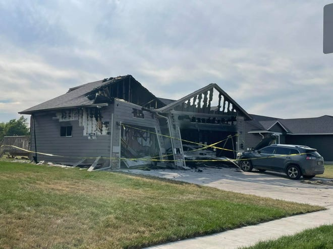 A home in the 400 Block of Thelma Ave in Harrisburg was heavily damaged in a fire on Friday night.