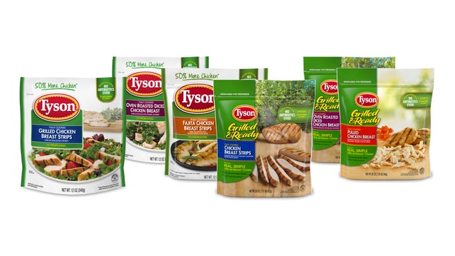 Tyson Foods is recalling approximately 8.5 million pounds of frozen, cooked chicken products for potential listeria contamination.