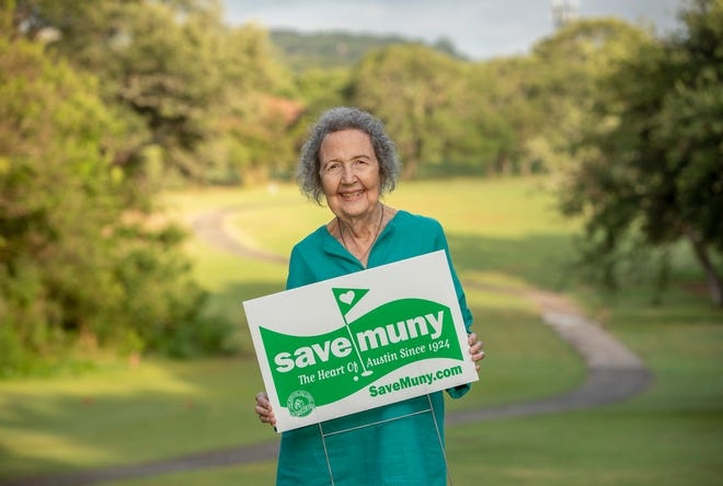 Environmental icon Mary Arnold in June at Lions Municipal Golf Course, which she has been working to save since the early 1970s.