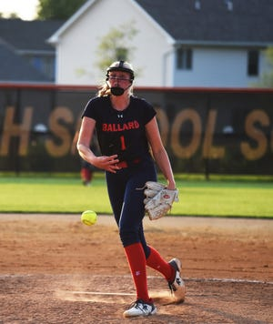 Brooklyn Baumgardner struck out four batters and only walked one as the winning pitcher against Ames Friday at Ames. Baumgardner also drove in two runs in a 6-3 Bomber victory.