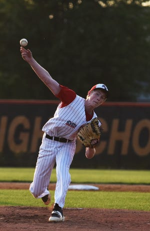 Ajay Twedt threw a strong game in defeat for Roland-Story in a 5-1 loss to Ames July 1 at Ames. The loss to the Little Cyclones, a Class 5A school, snapped an eight-game winning streak by the No. 1 team in 2A.