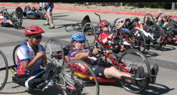 Racers participating in the Wichita Adaptive Sports - Kansas Cycling Omnium