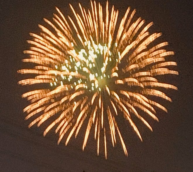 The annual Canton fireworks display were enjoyed not only by residents, but non residents as well.