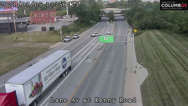 A Southern Ohio man was killed Monday afternoon when police say he rear-ended a tractor-trailer stopped at a red lightnear the University District in Columbus.