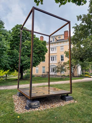 """Back Porch"" sculpture at Ohio Wesleyan University"