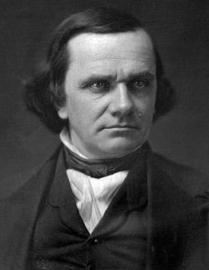 Stephen A. Douglas as he appeared at about the time of his Monmouth address.