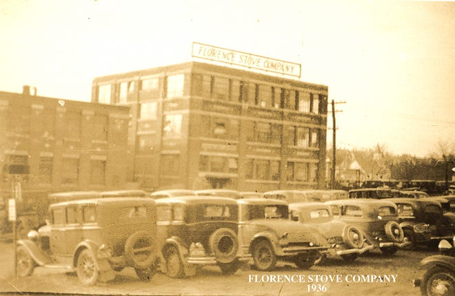 The Florence Stove Co. of Gardner is shown in a 1936 photo.