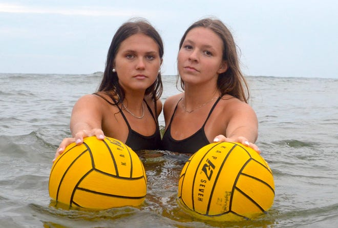 Zeeland's Kelsy Toth (left) and Rylee Fowler are The Holland Sentinel Girls Water Polo Co-Players of the Year.
