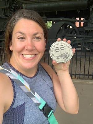 Jenny Bristol found the Sand Creek Summer Daze medallion on July 4.