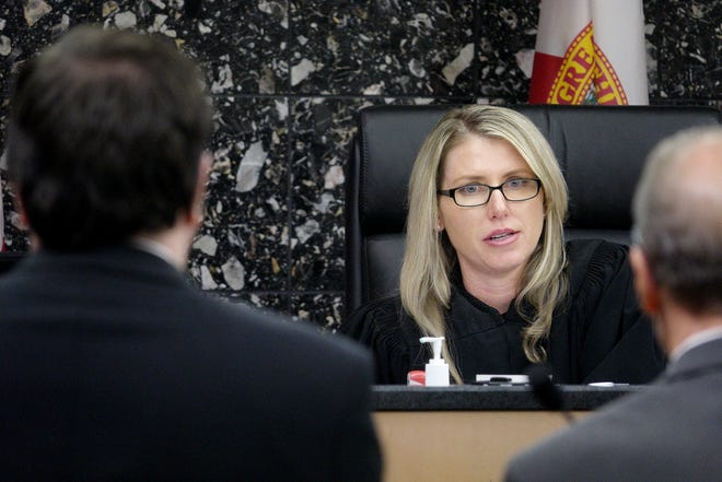 Palm Beach County Judge Marni Bryson at the County Courthouse in West Palm Beach in 2015.