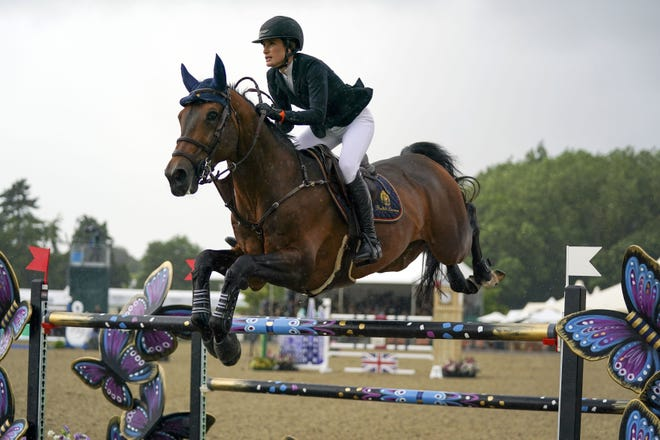 Jessica Springsteen, riding Don Juan van de Donkhoeve in the Rolex Grand Prix at the Royal Windsor Horse Show, in Windsor, England, on Sunday, realized a dream when she made the U.S. Olympics team.