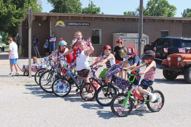 Kids of Iuka gather at the starting point of the first-ever City of Iuka parade on Saturday, July 3.