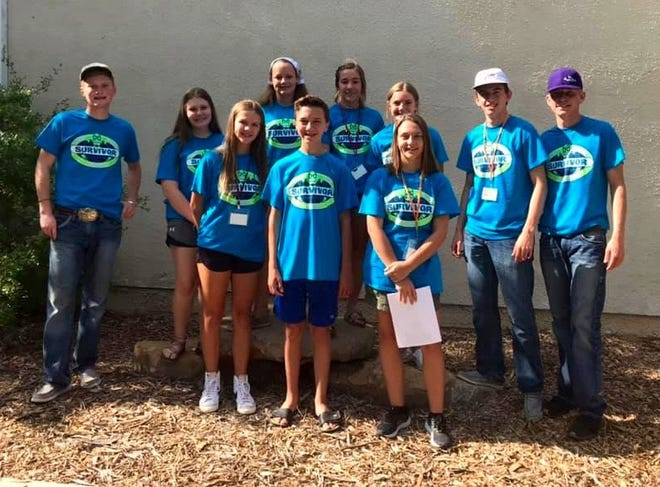 Eleven Runnels County 4-H'ers traveled to the Texas 4-H Center in Brownwood in June for the District 7 Leadership Lab. During the three day camp they worked to improve their leadership skills and learned activities to help improve their 4-H Clubs in Runnels County.