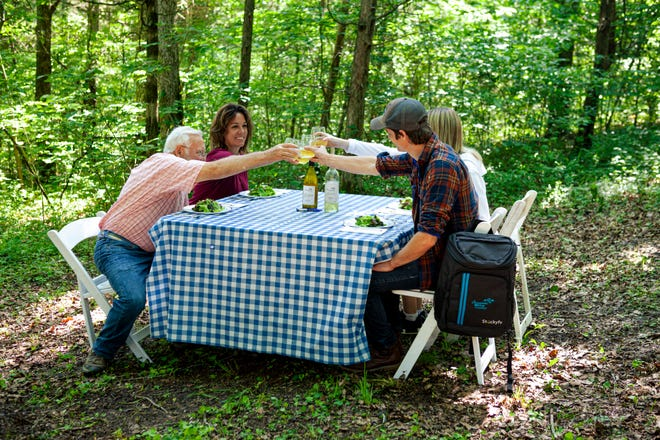 Chaumette Vineyards & Winery's hiking menu features a variety of portable, gourmet meals to choose from, as well as their award-winning wines.