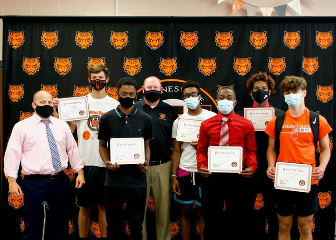 Waynesville High School track and field state champions recognized June 21.