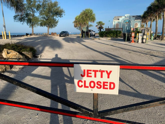 The city of Venice closed Humphris Park and the South Jetty walkway Monday morning, in anticipation of the arrival of Tropical Storm Elsa.
