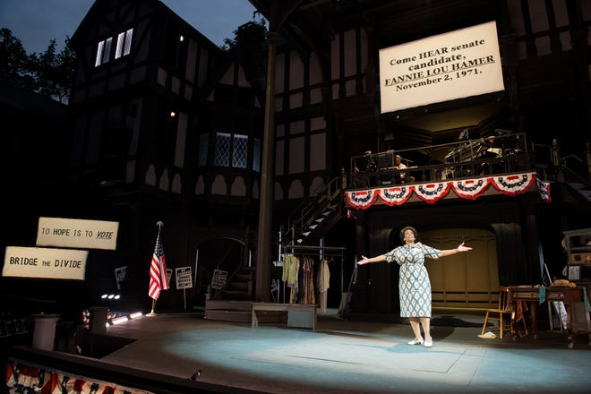 """A scene from the Oregon Shakespeare Festival production of """"Fannie: The Music and Life of Fannie Lou Hamer."""""""
