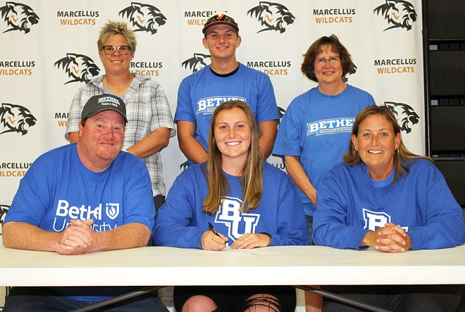 Marcellus High School graduate Rachel Mihills plans to continue her academic and track-and-field pursuits at  Bethel University.