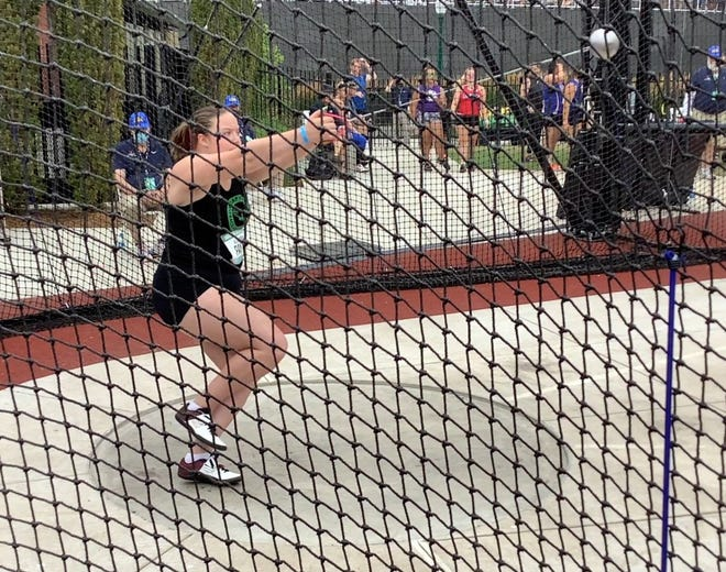 Alexandra Payne throws the hammer, and the 2021 North Kitsap grad earned a scholarship to Washington State University for her potential.