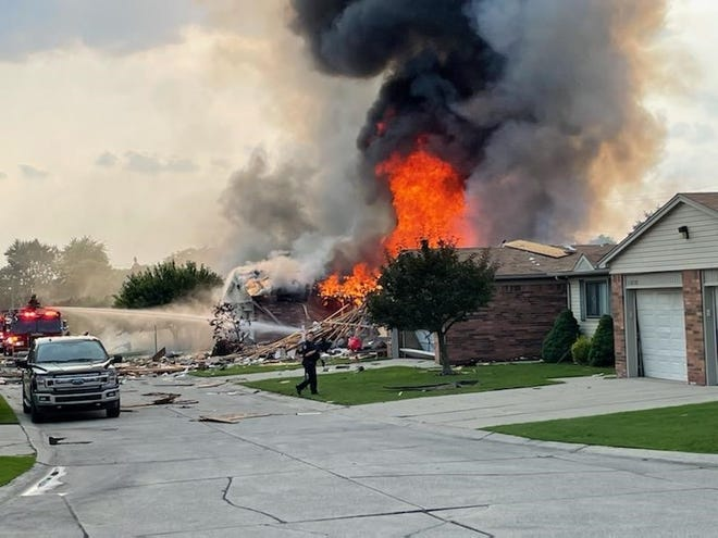 Nick Buza, 32, said he was eating dinner at his in-laws house when he heard the explosion.