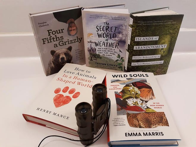 A variety of outdoor books for grown-ups.
