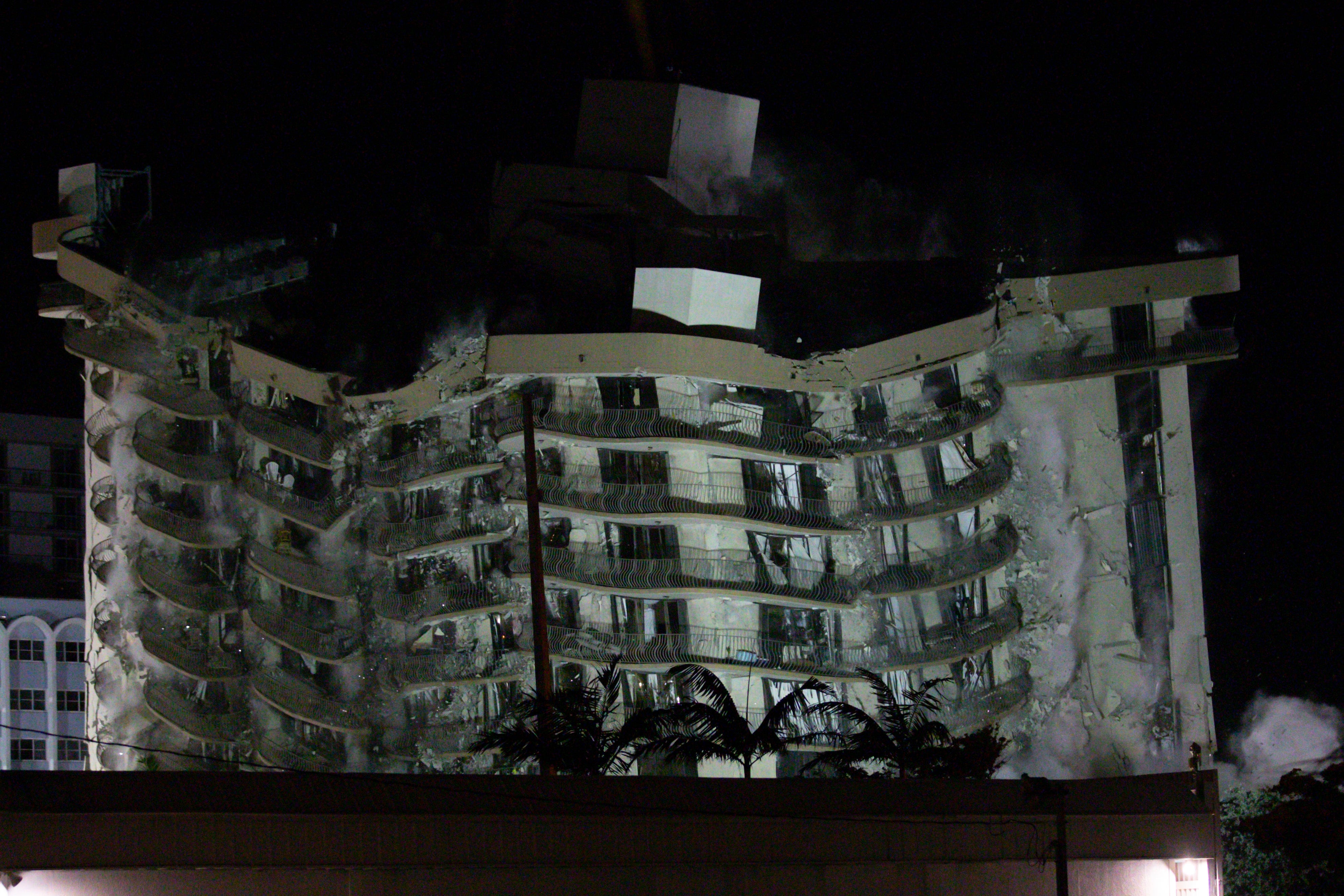 Demolition of Surfside, Florida condo near Miami that partially collapsed in June