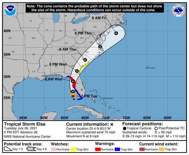 Tropical Storm Elsa is expected to impact our area this week.