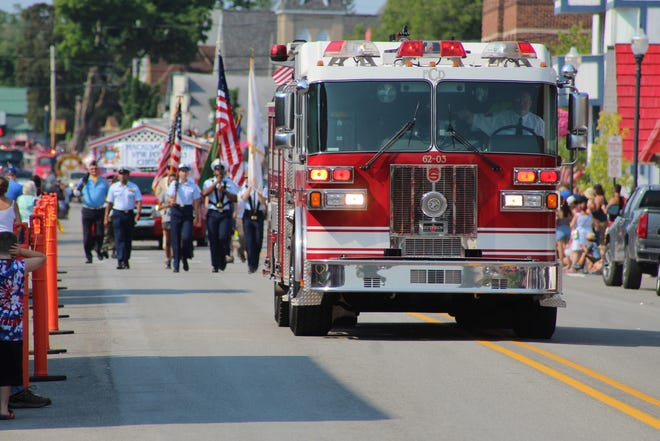 The Cheboygan Fire Department led the parade on Saturday, July 3 through downtown Cheboygan, while thousands of people lined Main Street to watch the parade.