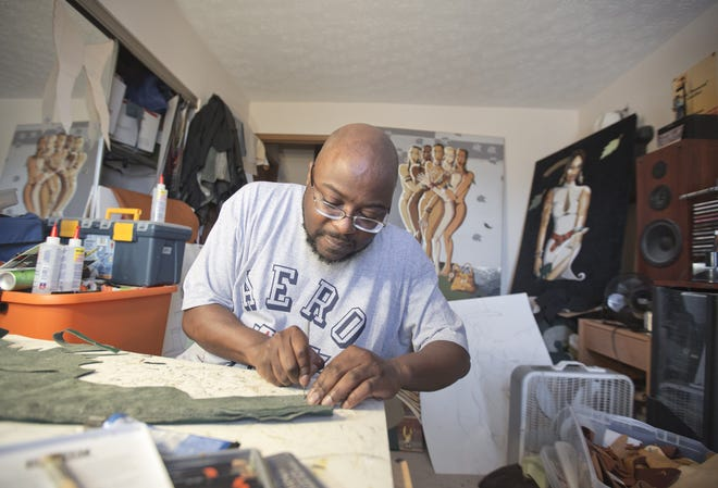 """Don """"DonCee"""" Coulter at work in his home studio."""