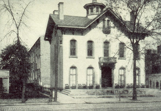 The Columbus Elks Lodge #37 officially moved June 19, 1901, to the Eberly mansion at 60 E. Main St. As part of the festivities, more than 300 uniformed members of the fraternal order escorted national officers from the Chittenden Hotel to the new lodge building. Built in 1863, the building had been home to local merchant Isaac Eberly. The building was demolished in 1922 after the Elks relocated in 1915 to their new purpose-built headquarters at 256 E. Broad St.