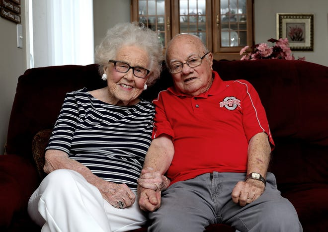 Nelrose and Jim Pinnick will celebrate their 75th anniversary on Wednesday.