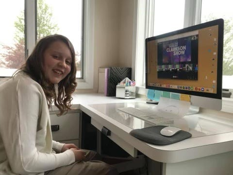 Andi Musser, entering sixth grade at Shreve Elementary School, will be a guest on the Kelly Clarkson Show on Wednesday to talk about the Kindness Closet she created at her school.
