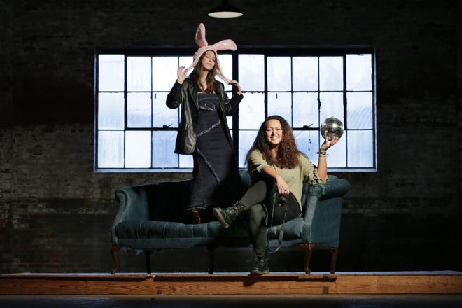 Gaby Diaz and Anna Mayo, co-founders of the art collective Strange Times Studios, are hosting Showcase Eclectica on Friday at the Glass Factory.