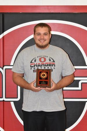 Zack Riddell was named Best Blocker at Orion High School's football awards program on Sunday, May 9.