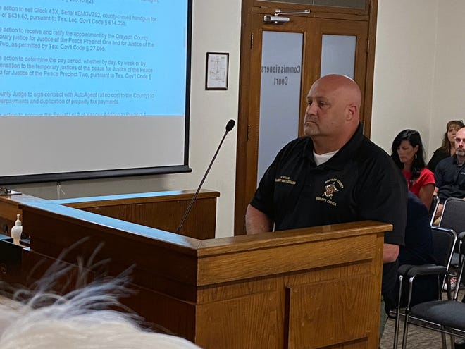 GCSO Captain Harvey Smitherman retires at commissioners court