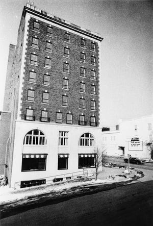 The Graham Plaza was one of Bill and Gayle Cook's first downtown Bloomington projects. The building on North College Avenue, on the northwest corner of the Monroe County Courthouse square, was converted to retail space and offices in 1979.